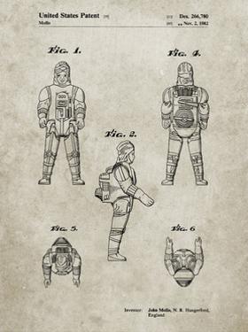 PP668-Sandstone Star Wars Dengar Patent Poster by Cole Borders