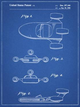 PP673-Blueprint Star Wars Landspeeder Patent Poster by Cole Borders