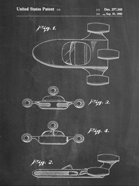 PP673-Chalkboard Star Wars Landspeeder Patent Poster by Cole Borders