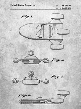PP673-Slate Star Wars Landspeeder Patent Poster by Cole Borders