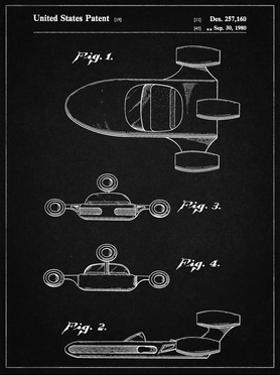 PP673-Vintage Black Star Wars Landspeeder Patent Poster by Cole Borders