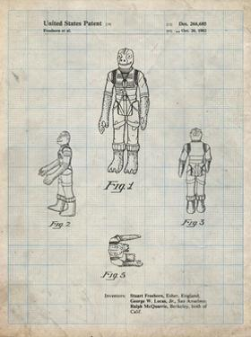 PP681-Antique Grid Parchment Star Wars Bossk Patent Poster by Cole Borders