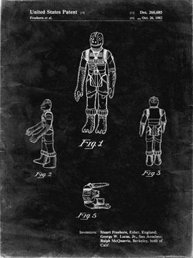 PP681-Black Grunge Star Wars Bossk Patent Poster by Cole Borders