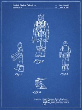 PP681-Blueprint Star Wars Bossk Patent Poster by Cole Borders