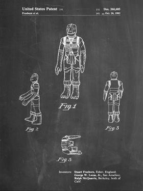 PP681-Chalkboard Star Wars Bossk Patent Poster by Cole Borders