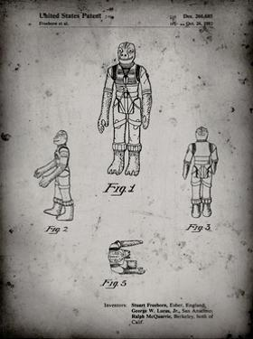PP681-Faded Grey Star Wars Bossk Patent Poster by Cole Borders
