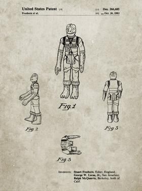 PP681-Sandstone Star Wars Bossk Patent Poster by Cole Borders