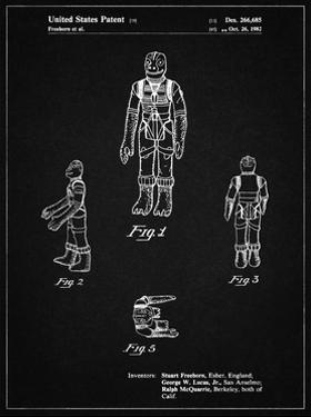 PP681-Vintage Black Star Wars Bossk Patent Poster by Cole Borders