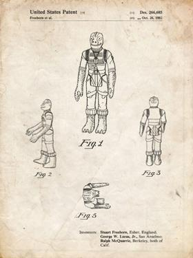 PP681-Vintage Parchment Star Wars Bossk Patent Poster by Cole Borders