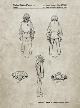 PP688-Sandstone Star Wars Admiral Ackbar Patent Poster by Cole Borders