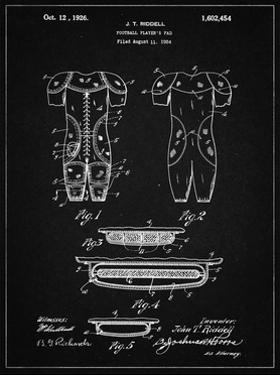 PP690-Vintage Black Ridell Football Pads 1926 Patent Poster by Cole Borders