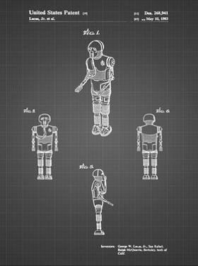 PP691-Black Grid Star Wars Medical Droid Patent Poster by Cole Borders