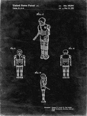 PP691-Black Grunge Star Wars Medical Droid Patent Poster by Cole Borders