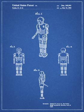 PP691-Blueprint Star Wars Medical Droid Patent Poster by Cole Borders