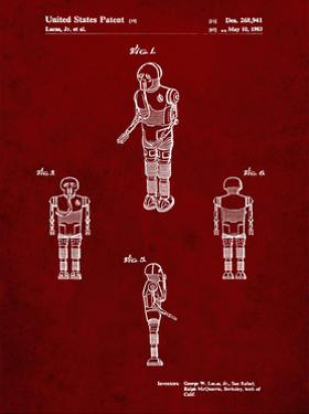 PP691-Burgundy Star Wars Medical Droid Patent Poster by Cole Borders