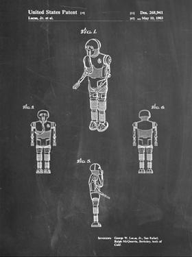 PP691-Chalkboard Star Wars Medical Droid Patent Poster by Cole Borders