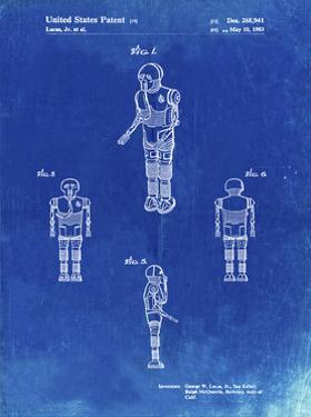 PP691-Faded Blueprint Star Wars Medical Droid Patent Poster by Cole Borders