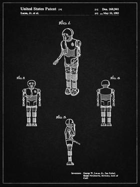 PP691-Vintage Black Star Wars Medical Droid Patent Poster by Cole Borders