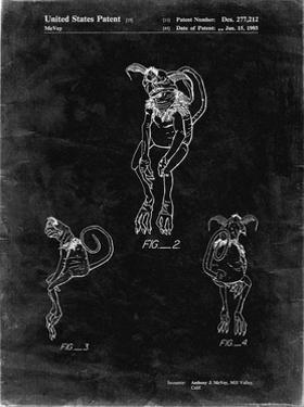 PP694-Black Grunge Star Wars Salacious Crumb Patent Poster by Cole Borders