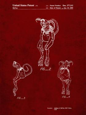 PP694-Burgundy Star Wars Salacious Crumb Patent Poster by Cole Borders