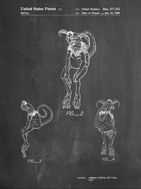 PP694-Chalkboard Star Wars Salacious Crumb Patent Poster by Cole Borders