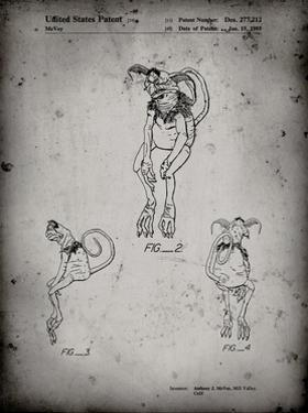 PP694-Faded Grey Star Wars Salacious Crumb Patent Poster by Cole Borders
