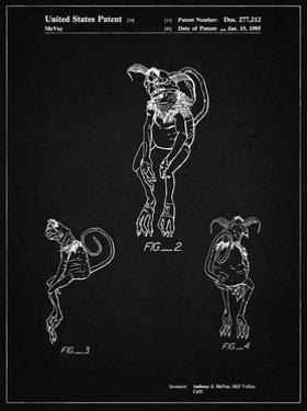 PP694-Vintage Black Star Wars Salacious Crumb Patent Poster by Cole Borders