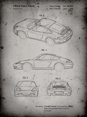 PP700-Faded Grey 199 Porsche 911 Patent Poster by Cole Borders
