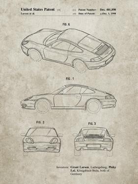 PP700-Sandstone 199 Porsche 911 Patent Poster by Cole Borders