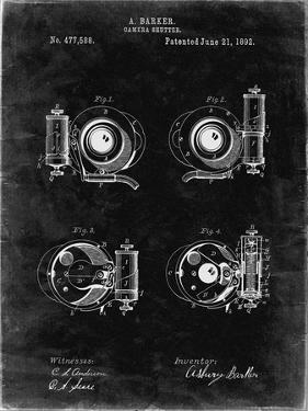 PP707-Black Grunge Asbury Frictionless Camera Shutter Patent Poster by Cole Borders