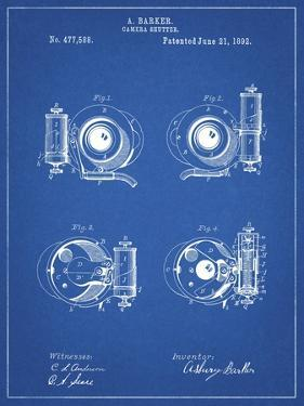 PP707-Blueprint Asbury Frictionless Camera Shutter Patent Poster by Cole Borders