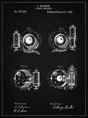 PP707-Vintage Black Asbury Frictionless Camera Shutter Patent Poster by Cole Borders