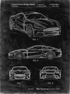 PP708-Black Grunge Aston Martin D89 Carbon Edition Patent Poster by Cole Borders