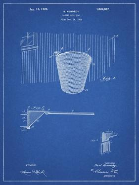 PP717-Blueprint Basketball Goal Patent Poster by Cole Borders