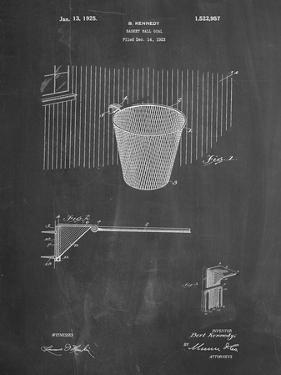 PP717-Chalkboard Basketball Goal Patent Poster by Cole Borders