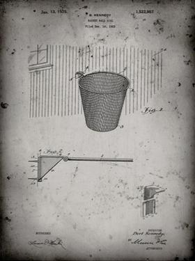 PP717-Faded Grey Basketball Goal Patent Poster by Cole Borders