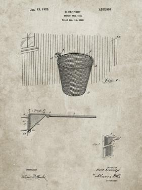 PP717-Sandstone Basketball Goal Patent Poster by Cole Borders