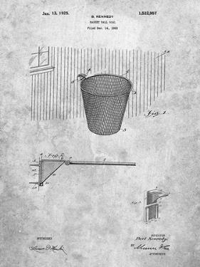 PP717-Slate Basketball Goal Patent Poster by Cole Borders