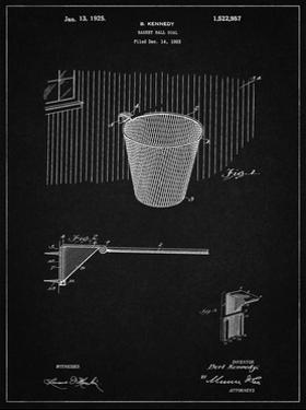 PP717-Vintage Black Basketball Goal Patent Poster by Cole Borders