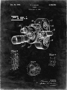 PP72-Black Grunge Bell and Howell Color Filter Camera Patent Poster by Cole Borders
