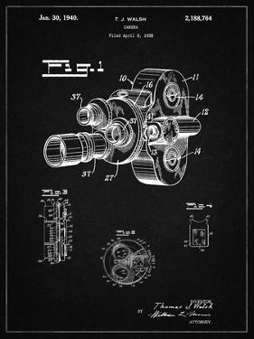 PP72-Vintage Black Bell and Howell Color Filter Camera Patent Poster by Cole Borders
