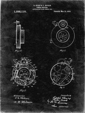 PP720-Black Grunge Bausch and Lomb Camera Shutter Patent Poster by Cole Borders