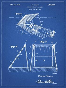 PP723-Blueprint Beach shade 1929 Patent Wall Art Poster by Cole Borders