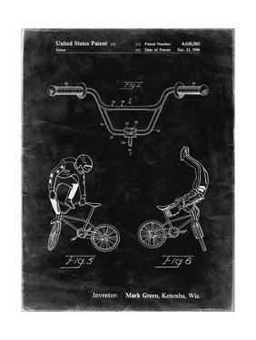 PP734-Black Grunge Bicycle Handlebar Art by Cole Borders