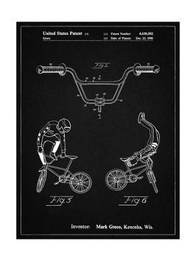 PP734-Vintage Black Bicycle Handlebar Art by Cole Borders