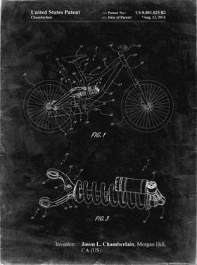 PP735-Black Grunge Bicycle Shock Art by Cole Borders