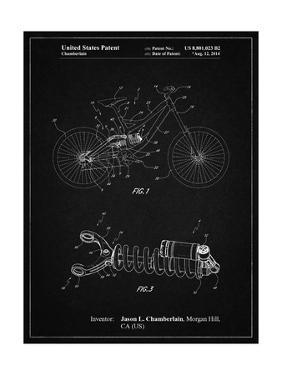PP735-Vintage Black Bicycle Shock Art by Cole Borders