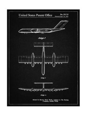 PP749-Vintage Black Boeing RC-1 Airplane Concept Patent Poster by Cole Borders
