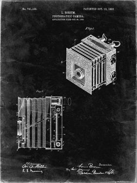 PP753-Black Grunge Borsum Camera Co Reflex Camera Patent Poster by Cole Borders