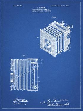 PP753-Blueprint Borsum Camera Co Reflex Camera Patent Poster by Cole Borders